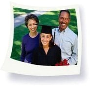 graduation picture of daughter with parents